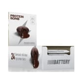 PROTEIN BOMB BROWNIE 24 Barritas de 60g  de Battery Nutrition