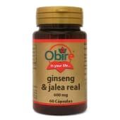 GINSENG Y JALEA REAL 600MG 60 Caps de Obire.