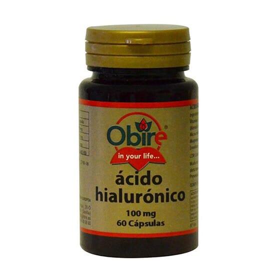 ÁCIDO HIALURÓNICO 100MG 60 Caps de Obire.