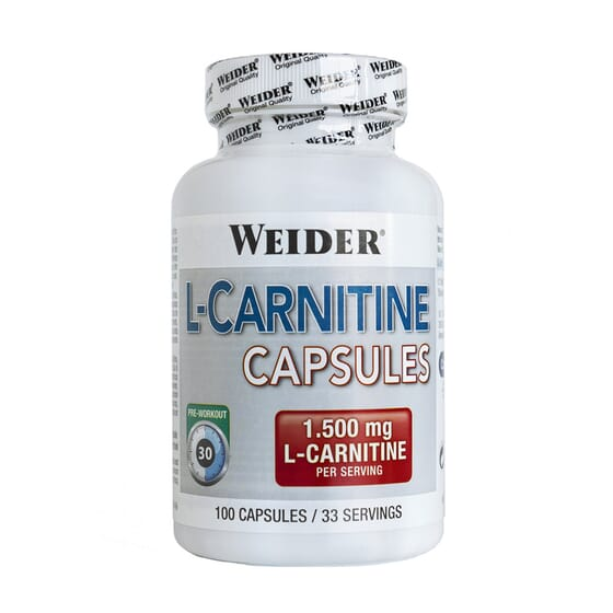 L-CARNITINE CAPSULES 100 Caps - Weider