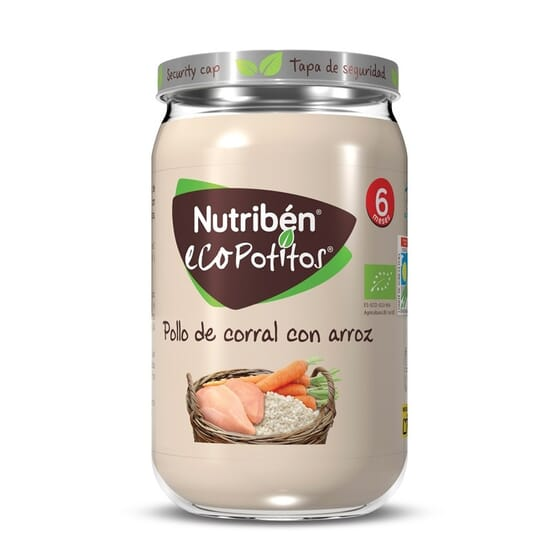 ECO POTITOS POLLO DE CORRAL CON ARROZ 235g de Nutribén.