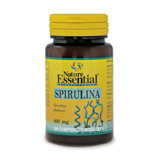 Espirulina 400mg 100 Tabs Nature Essential