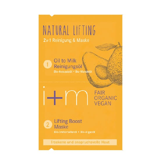 MÁSCARA FACIAL 2 EM 1 LIFTING NATURAL da I+M