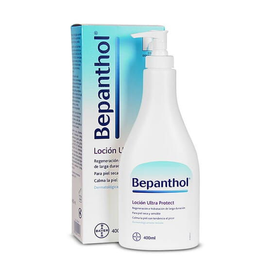 Bepanthol Loción Ultra Protect hidrata las pieles secas, sensibles o con dermatitis atópica.