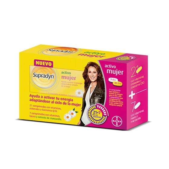 Supradyn Active Femme est un multivitamines qui s'adapte au cycle féminin.
