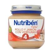 POTITOS POLLO Y JAMÓN CON VERDURAS 120g de Nutribén.