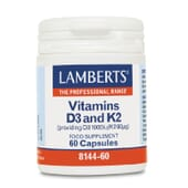 VITAMINA D3 Y K2 60 Caps de Lamberts