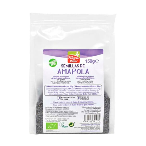 Semillas de Amapola Pulidas Bio 150g de La Finestra Sul Cielo