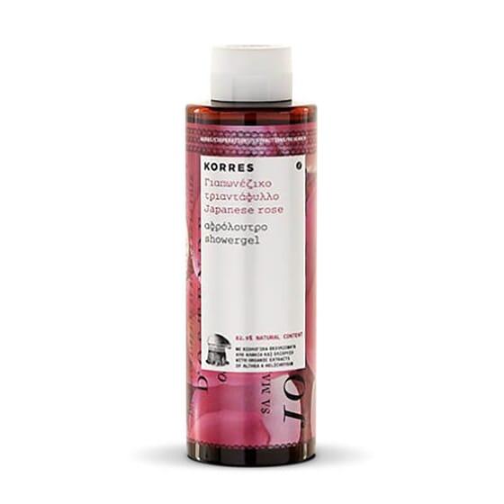Gel Douche Rose du Japon nettoie et hydrate la peau.