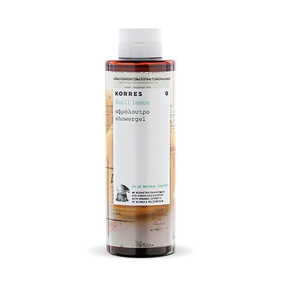 Korres Gel de Ducha Albahaca y Limón proporciona una hidratación duradera.
