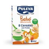 Puleva Bebé 8 Cereales con frutas FOS es una papilla rica en hierro, calcio y vitamina D