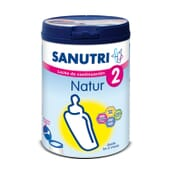 Sanutri Natur 2 es una leche de continuación indicada desde los 6 meses de vida.