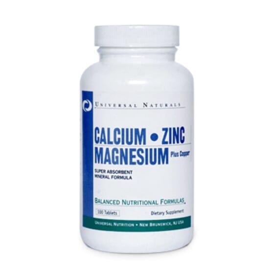 Calcio Zinc Magnesio 100 Tabs de Universal Nutrition