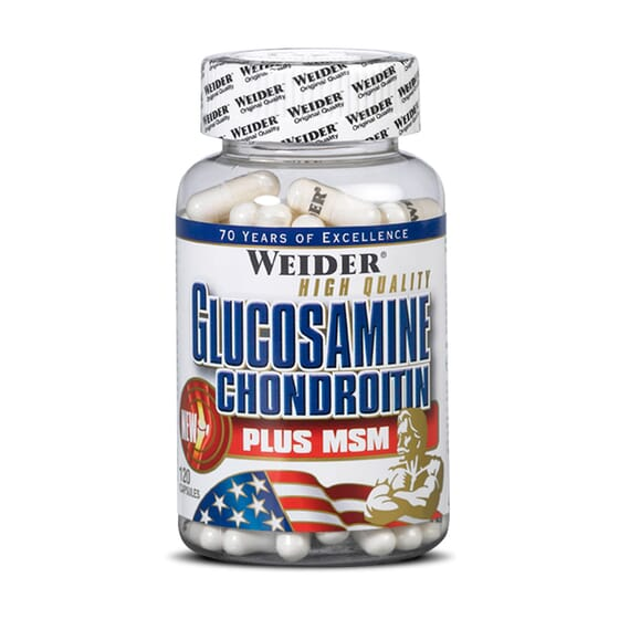 GLUCOSAMINE CHONDROITIN + MSM 120 Gélules - WEIDER