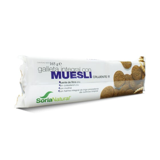 Galleta Integral Con Muesli 165g de Soria Natural