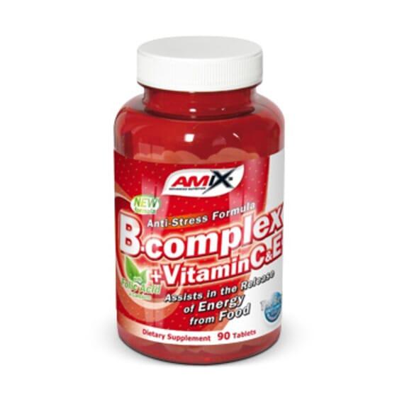 B-Complex 90 Tabs de Amix Nutrition
