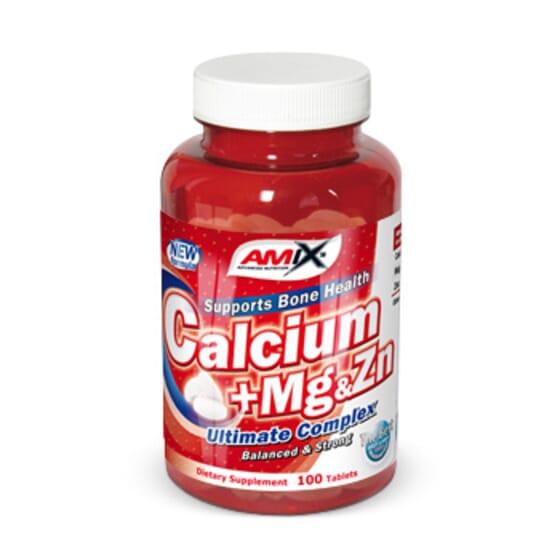 Cálcio-Magnésio-Zinco 100 Comp da Amix Nutrition