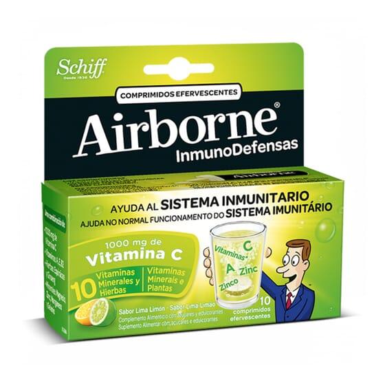 AIRBORNE INMUNODEFENSAS EFERVESCENTE LIMA LIMON 10 Tabs - AIRBONE