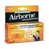 AIRBORNE DÉFENSES IMMUNITAIRES COMPRIMÉS EFFERVESCENTS GOÛT ORANGE 10 Comprimés - AIRBORNE