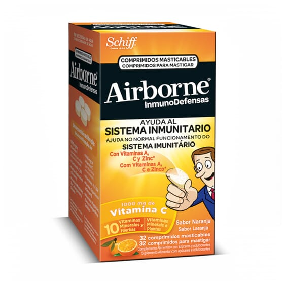 AIRBORNE INMUNODEFENSAS MASTICABLES DE NARANJA 32 Tabs - AIRBONE