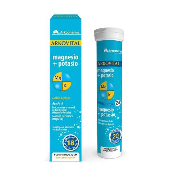 Arkovital Magnesio + Potasio 18 Tabs Efervescentes de Arkopharma