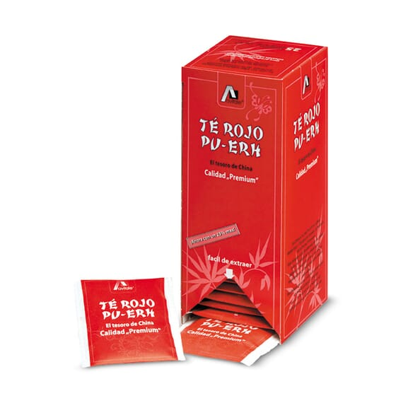 Chá Vermelho Pu-Erh 25 x 2g da Avitale