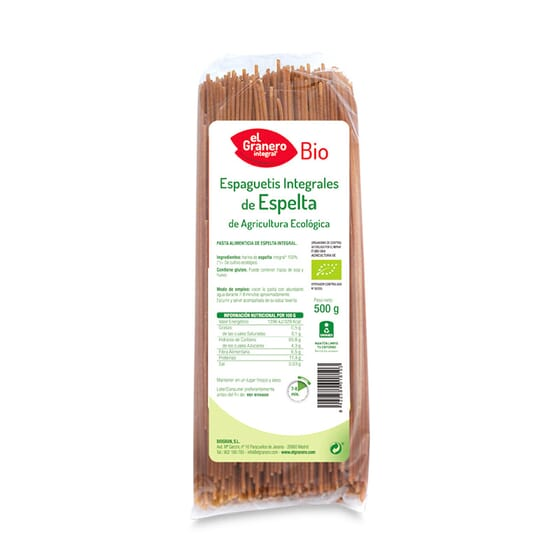 Esparguete De Espelta Integral Bio 500g da El Granero Integral