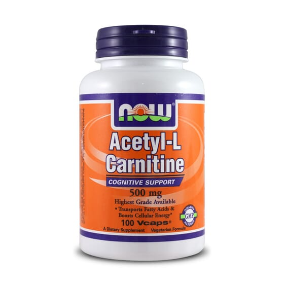 Acetyl L-Carnitine 500Mg 100 Vcaps da Now Foods