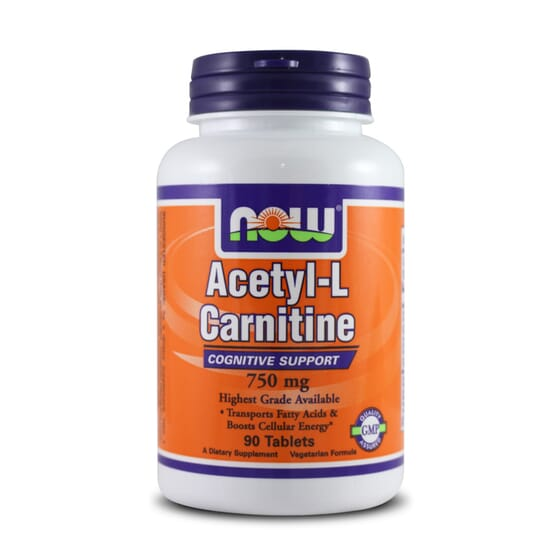 Acetyl L-Carnitine 750Mg 90 Tabs da Now Foods