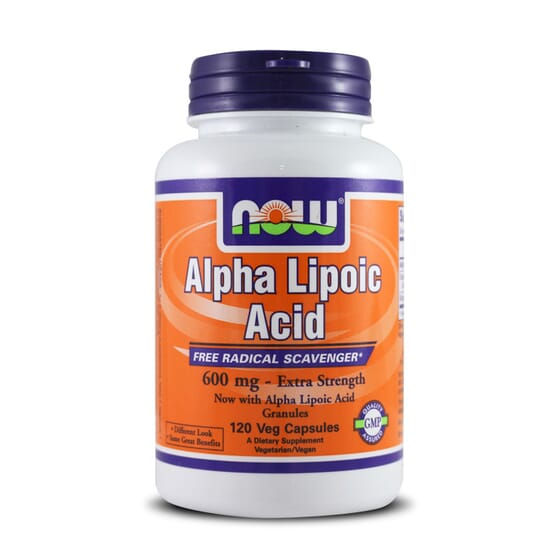 ALPHA LIPOIC ACID 600mg 120 VCaps - NOW FOOD