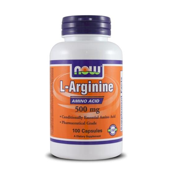 L-Arginine 500mg 100 Caps de Now Foods