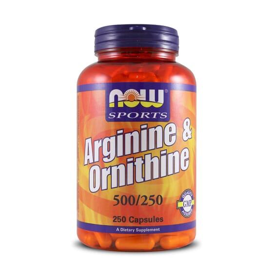 ARGININE & ORNITHINE 250 Caps - NOW SPORT