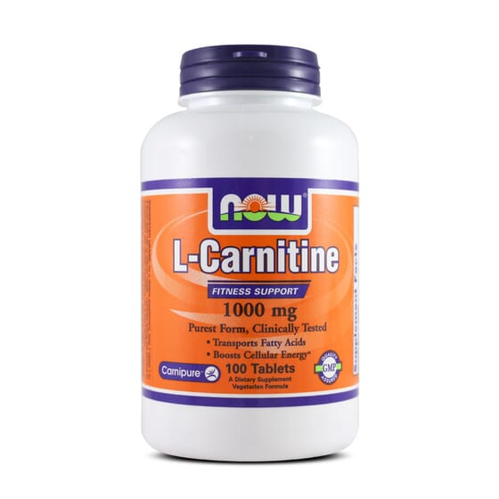 L-Carnitine 1000mg 100 Tabs de Now Foods