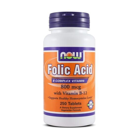 Folic Acid 800Mcg 250 Tabs da Now Foods