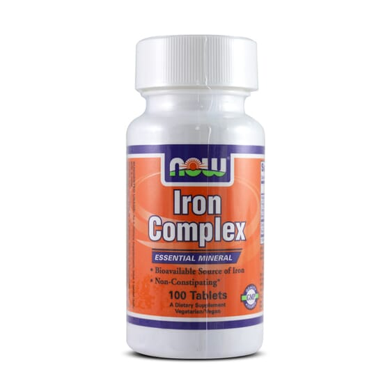IRON COMPLEX 100 Tabs - NOW FOODS