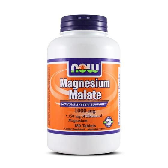 MAGNESIUM MALATE 1000mg 180 Tabs - NOW FOODS