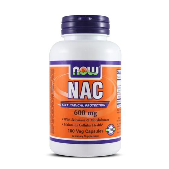 NAC N-ACETYL CYSTEINE 600mg 100 Caps - NOW FOODS