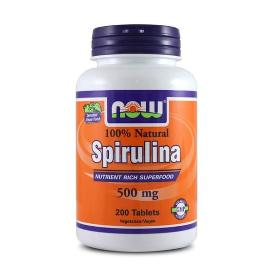 Spirulina 500mg 200 Tabs de Now Foods