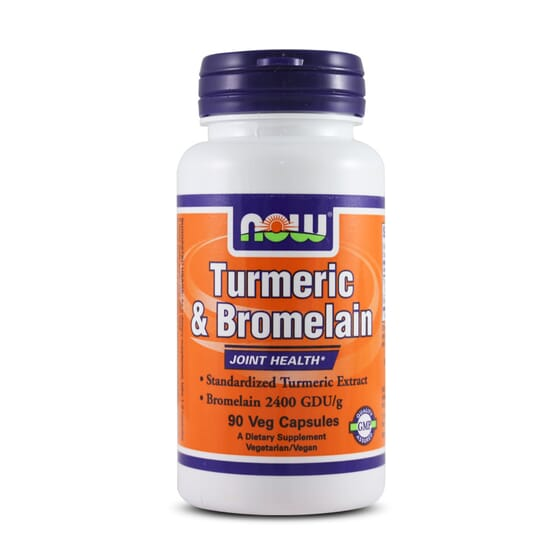 Turmeric & Bromelain 90 VCaps da Now Foods