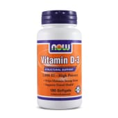 Vitamin D-3 1000IU 180 Softgels de Now Foods