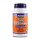 Zinc Picolinate 50mg 120 Caps de Now Foods