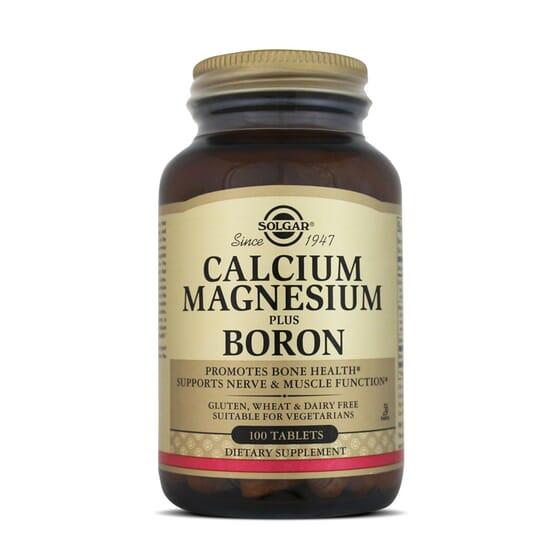 Calcium Magnesium Plus Boron  100 Tabs da Solgar