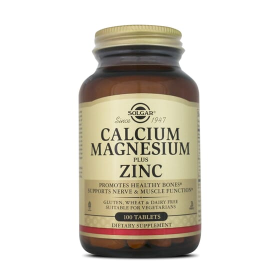 Calcium Magnesium Plus Zinc 100 Tabs da Solgar