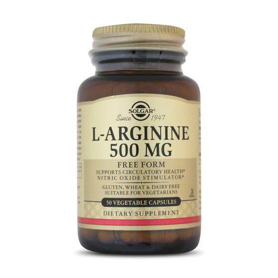 La l-arginina de Solgar ayuda en la circulación sanguínea