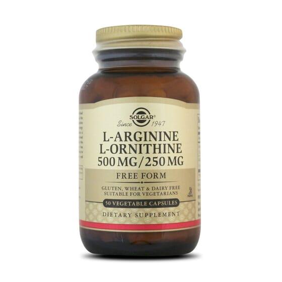 L-Arginine / L-Ornithine 500 / 250Mg - 50 Vcaps da Solgar
