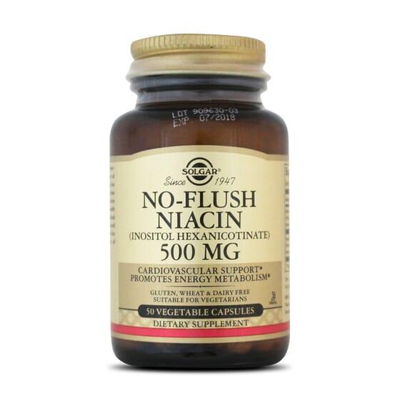 No-Flush Niacin 500Mg 50 Vcaps da Solgar