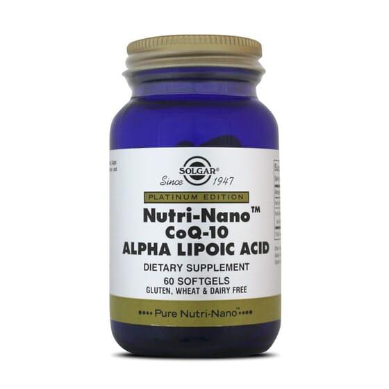 NUTRI-NANO COQ-10 ALPHA LIPOIC ACID de Solgar