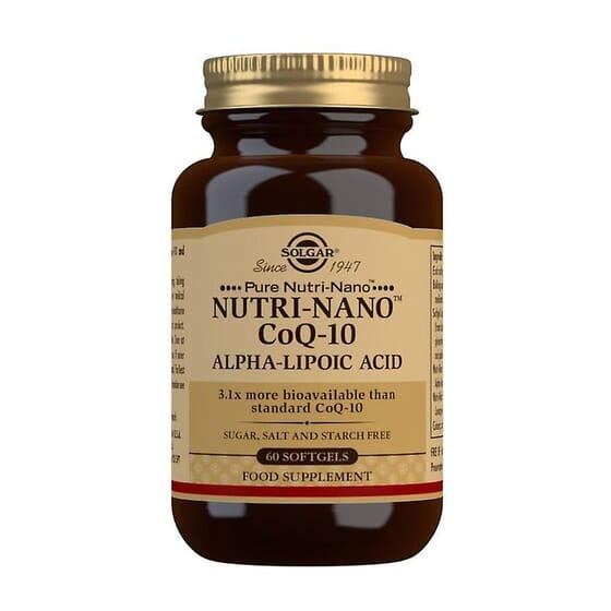 Nutri-Nano Coq-10 Alpha Lipoic Acid 60 Softgels da Solgar