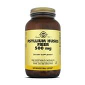 Regula tu tránsito intestinal con Fibra de cáscaras de Psyllium Solgar