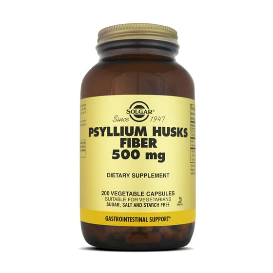 Psyllium Husks Fiber 500Mg 200 Vcaps da Solgar